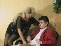 Lustful German whores in vintage sex movie