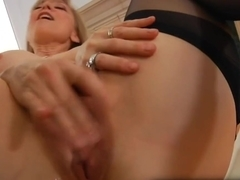 Sexually Excited older granny Nina Hartley masturbating
