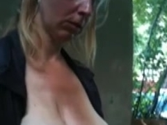 Flash and then Cum in the throat preggy aged babes