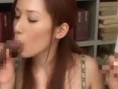 Hottest Japanese chick Emi Orihara in Crazy DP/Futa-ana, Cougar JAV video