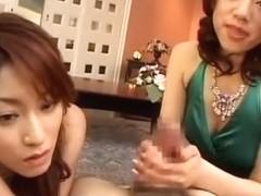 Exotic Japanese whore Karen Kisaragi, Yuna Mizumoto in Horny POV, Handjobs JAV scene