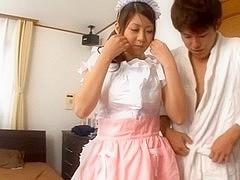 A Creampied Pussy Makes Maid Hitomi Kitagawa Happy