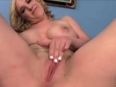 Busty blonde Blake Lovely seduces her step-brother and has him nailing her wet peach