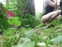 Italian drilled by voyeur dude in forest