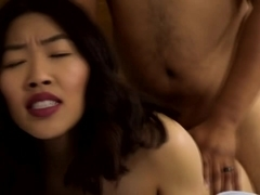 Pretty Asian woman gets fucked hard from behind