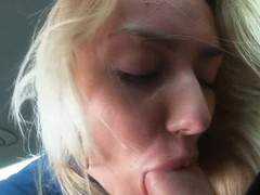 Legal Age Teenager golden-haired gal group-fucked with stranger at the backseat