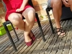Step mother & step sister in flat shoes