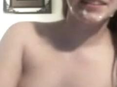 Lascivious couple web camera sex and facial