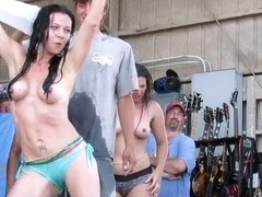 wild and so fucking hot contest from iowa biker rally