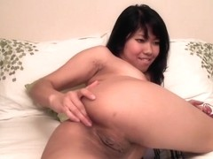 A hot show made by a wonderful brunette Japanese chick