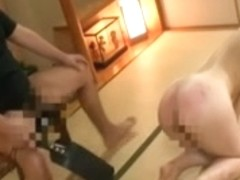 Japanese hottie gets her nice booty spanked