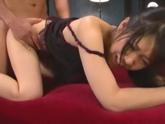 Exotic Japanese whore in Best Lingerie, Doggy Style JAV clip
