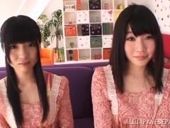 Sexy Satomi Nomiya and Ichigo Tominaga shave pussies