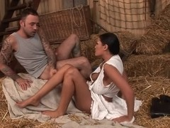 married milf  cheats with the stable boy in the barn
