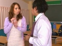 Eri Ouka Sweet Asian teacher enjoys cock