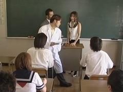 Manami Suzuki amazing milf teacher fucks wild gang