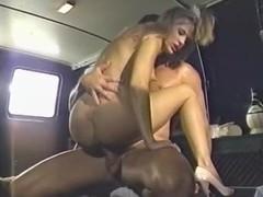 Dominique Simone, Derrick Lane, Joey Silvera in classic sex movie