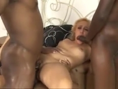 Hot Blonde Slut Tinslee Reagan Dped By Black Guys In Bed