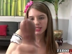 Cummed on step teen ###