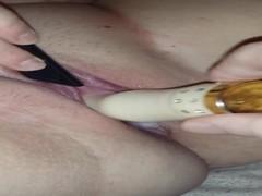 Dildo Fucked Me 3 : Squatting Prostate Orgasm & CUM