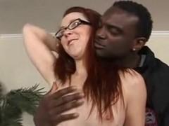 Redhead Trinity anal fucked by black cocks