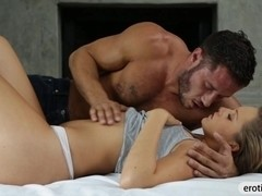 Perky tits bruntte babe Bailey Bae passionate fucking