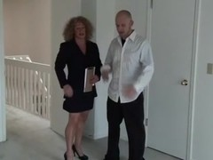 Muscle bitch realtor gets what she wants