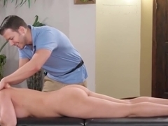 Voluptuous MILF Boss Offers Herself For Massage Practice