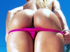 Two exciting bitches teasing, sucking and riding Keiran's huge cock