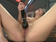 Crazy squirting, fetish adult video with hottest pornstar Marley Blaze from Fuckingmachines