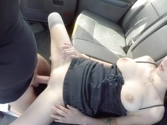 John Bishop - A Hung Cab Driver Fucks A 18-year-old Cute Chick On All Fours