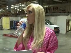 Fabulous pornstar Jessica Lynn in hottest blonde, facial sex video