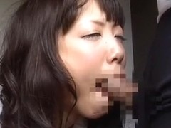 Fabulous Japanese whore in Crazy Doggy Style, Fingering JAV clip