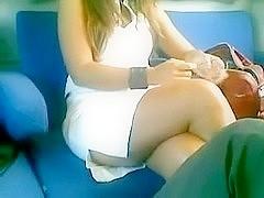 Legs in public (compilation + bonus cum)