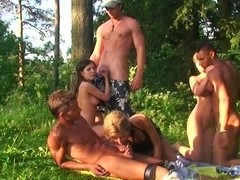Alika & Milana Fox & Monica B. & Vicktoria Tiffany in naked students having a lusty adventure in n.