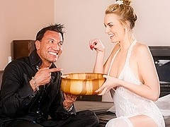 Keira Nicole, Marco Banderas in Birthday Massage Scene