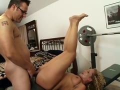 Naughty Sunny Jay loves to get into a fucking session in the gym
