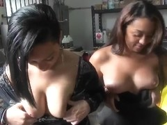 Amateur hotties are showing tits for money