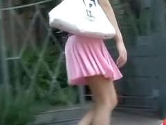 Attractive tall sweetie having sharking encounter during nice long walk