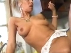 MILF blonde nurse fucking like a real whore