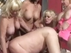 Five hot grandmas watching shaved grandpapa acquire dong drilled