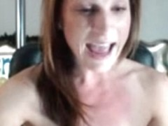 Big sex toy stuck in a wet creamy pussy