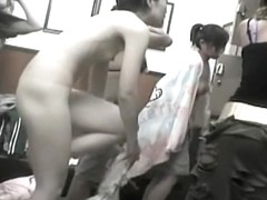 Asian girls bare off their tan lined bodies in change room 437 su0302