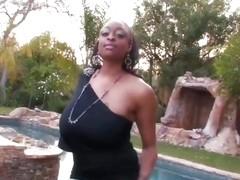Carmen Hayes Thick Swinging Tits Fucking Pool Boy