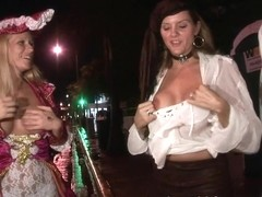 SpringBreakLife Video: Cute Coeds Flashing On Halloween