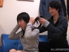 Japanese AV model is a horny milf inhardcore action