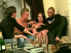 bang sex with a youthful brunette hair