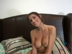 ATKGirlfriends video: August Ames sucks your clock with passion, and rides you.