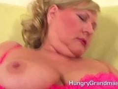 Impish granny in hardcore act