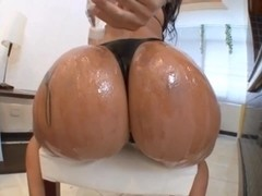 Big-ass slut is having threesome sex